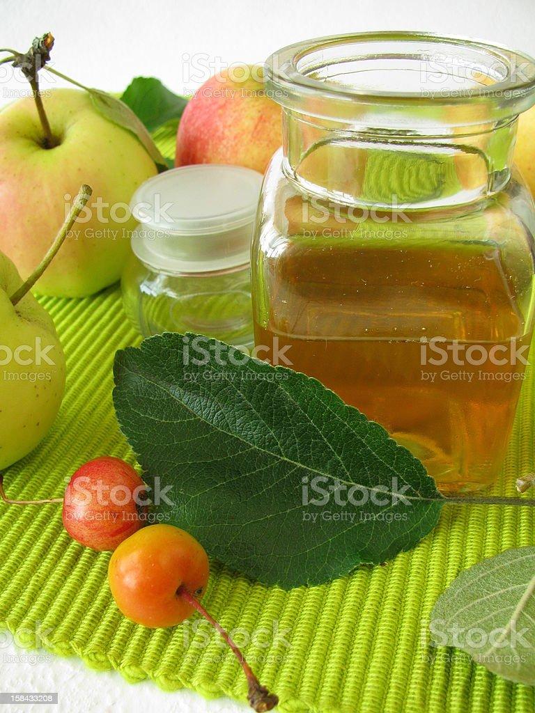 Apple cider vinegar royalty-free stock photo
