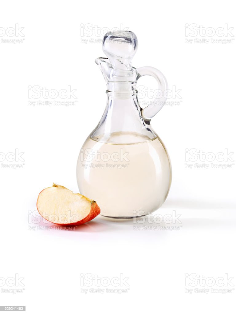 Apple cider vinegar- so many great health benefits stock photo