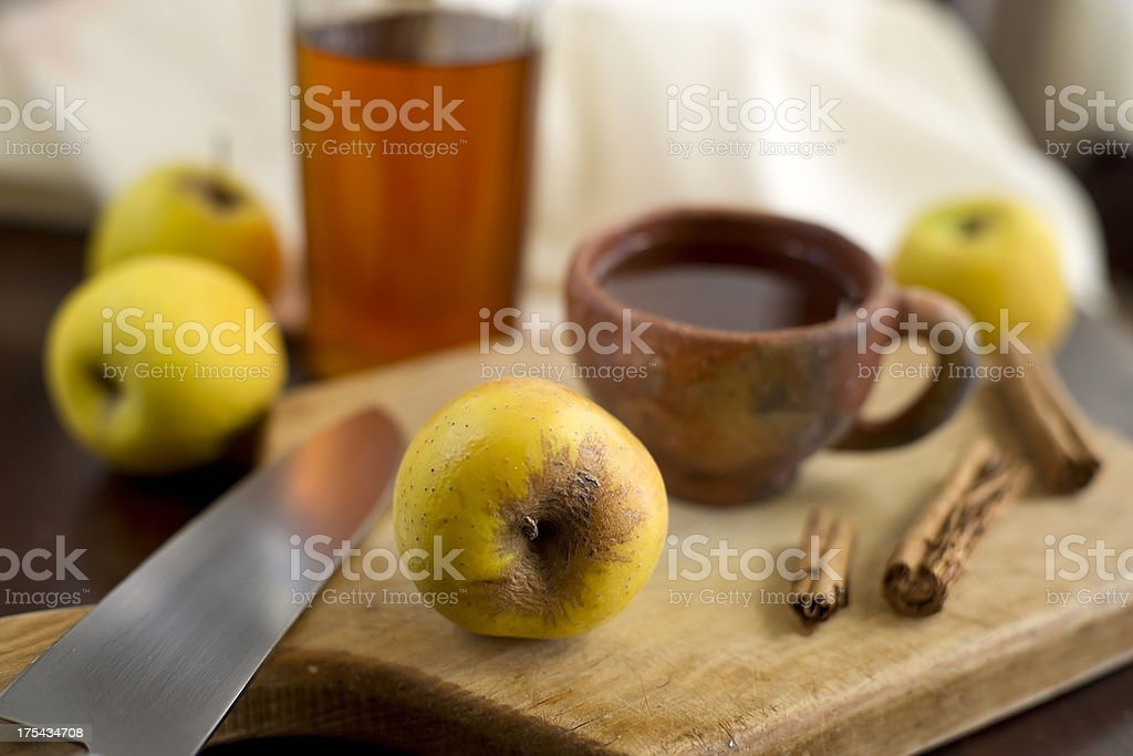 Apple, Cinnamon and Honey Tea royalty-free stock photo
