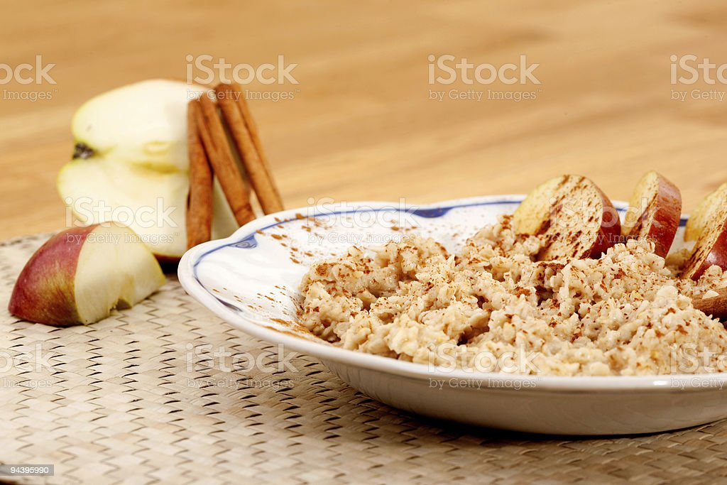 Apple Cinnamon Porridge royalty-free stock photo