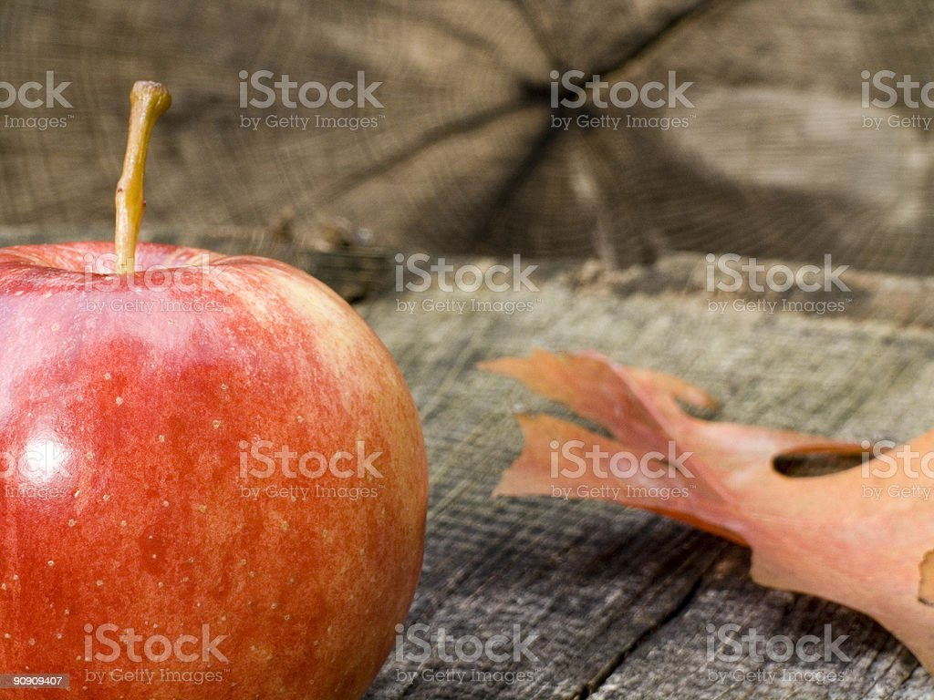 Apple Closeup and leaf royalty-free stock photo