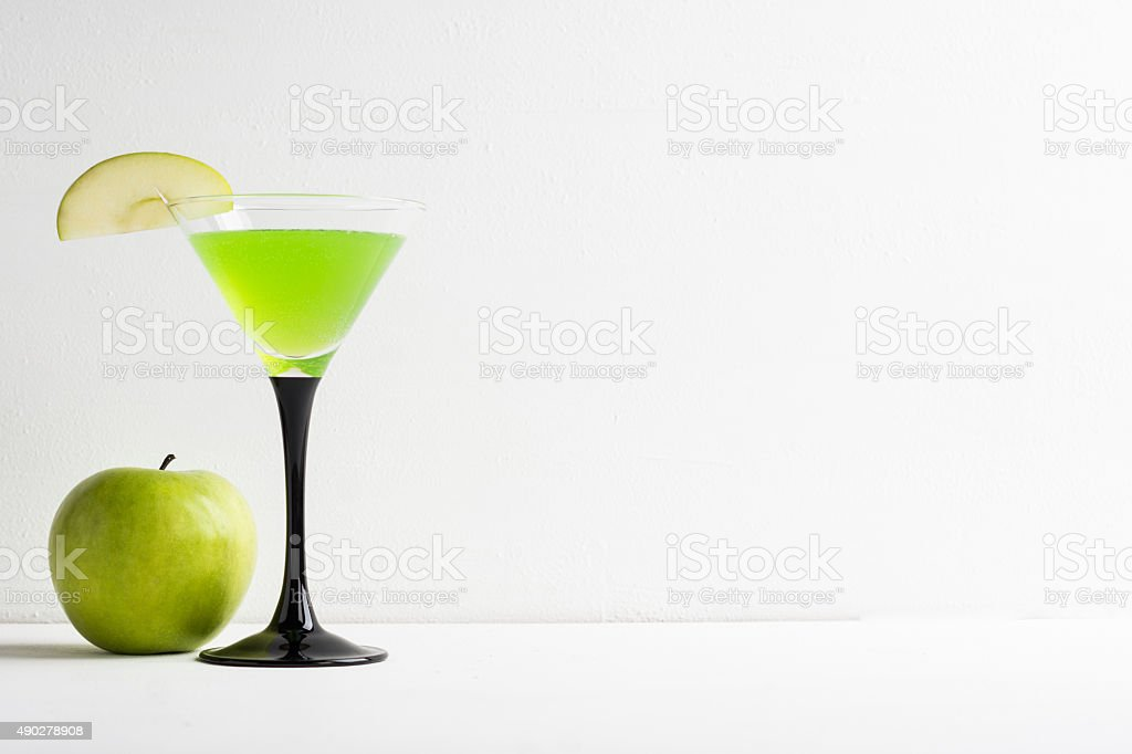 Apple cocktail stock photo