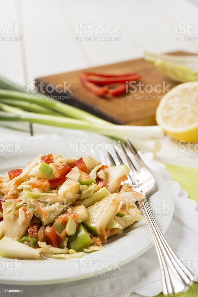 Apple Coleslaw with Copy Space royalty-free stock photo
