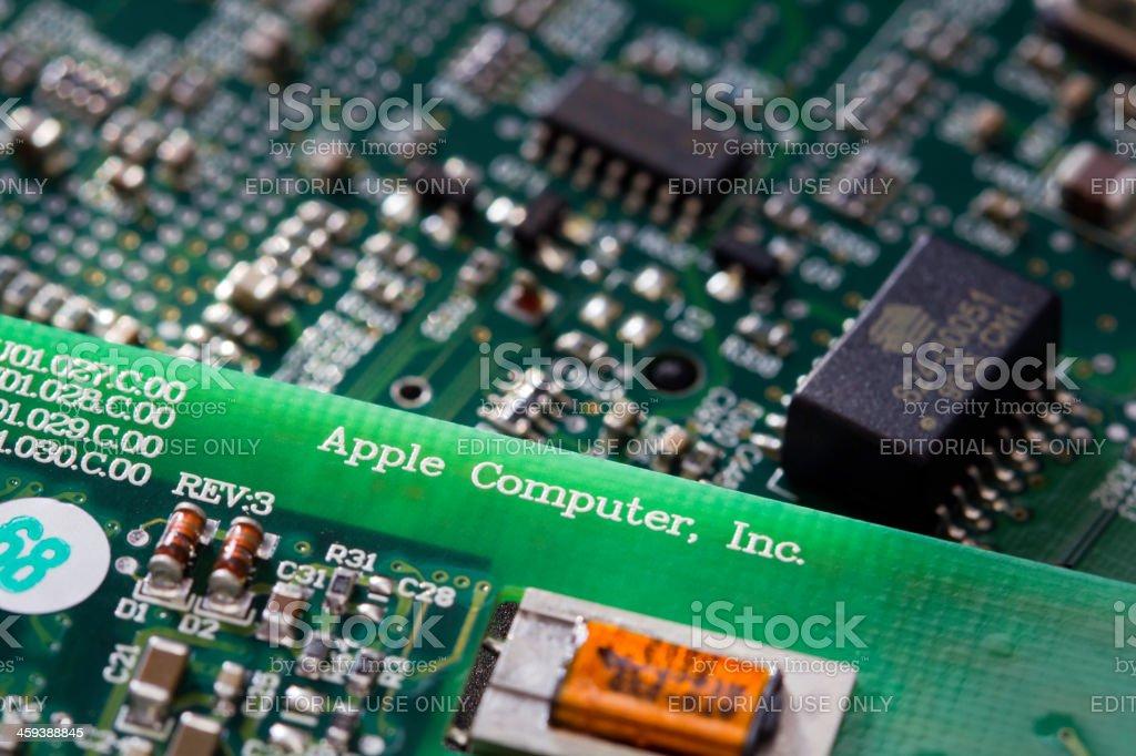 Apple Computer Circuit Board royalty-free stock photo