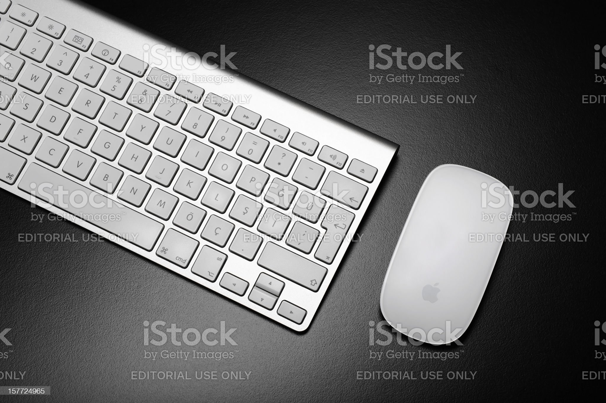 Apple Computer Keyboard and Mouse royalty-free stock photo