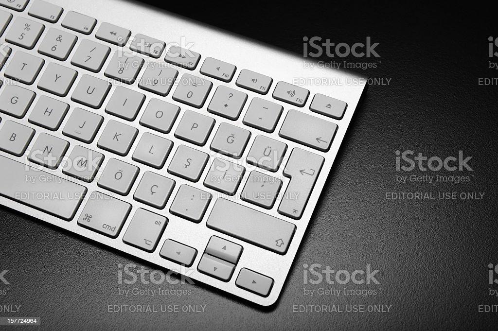 Apple Computer Keyboard royalty-free stock photo