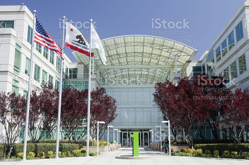 Apple Computers Campus royalty-free stock photo