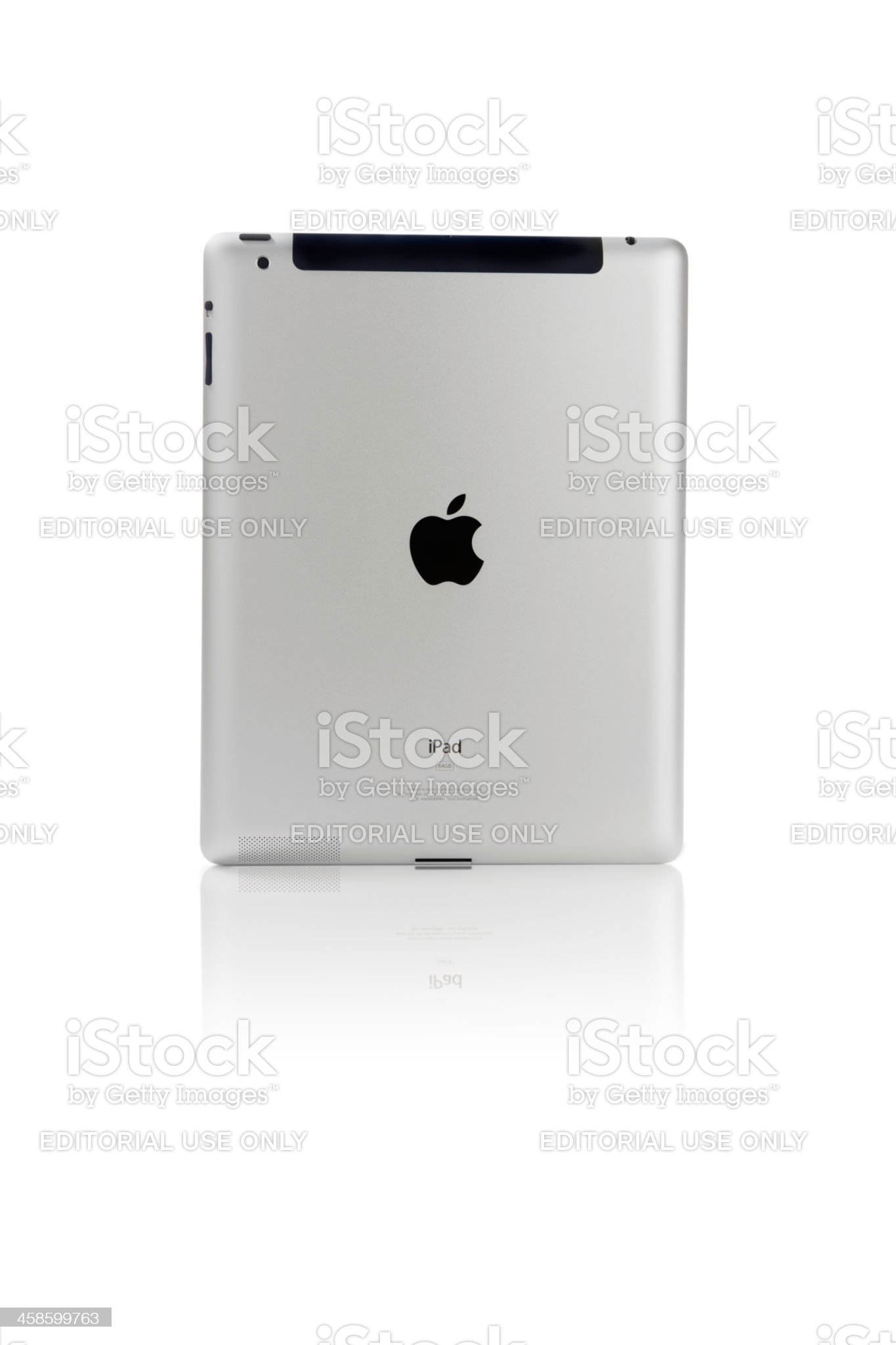 Apple Computers iPad iPad2 from behind Isolated royalty-free stock photo