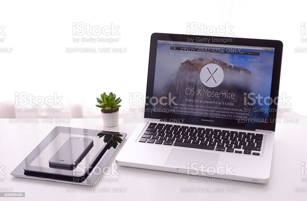 Apple computers stock photo