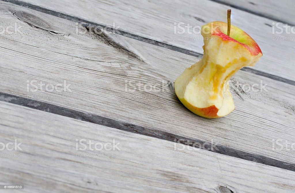 Apple core stock photo