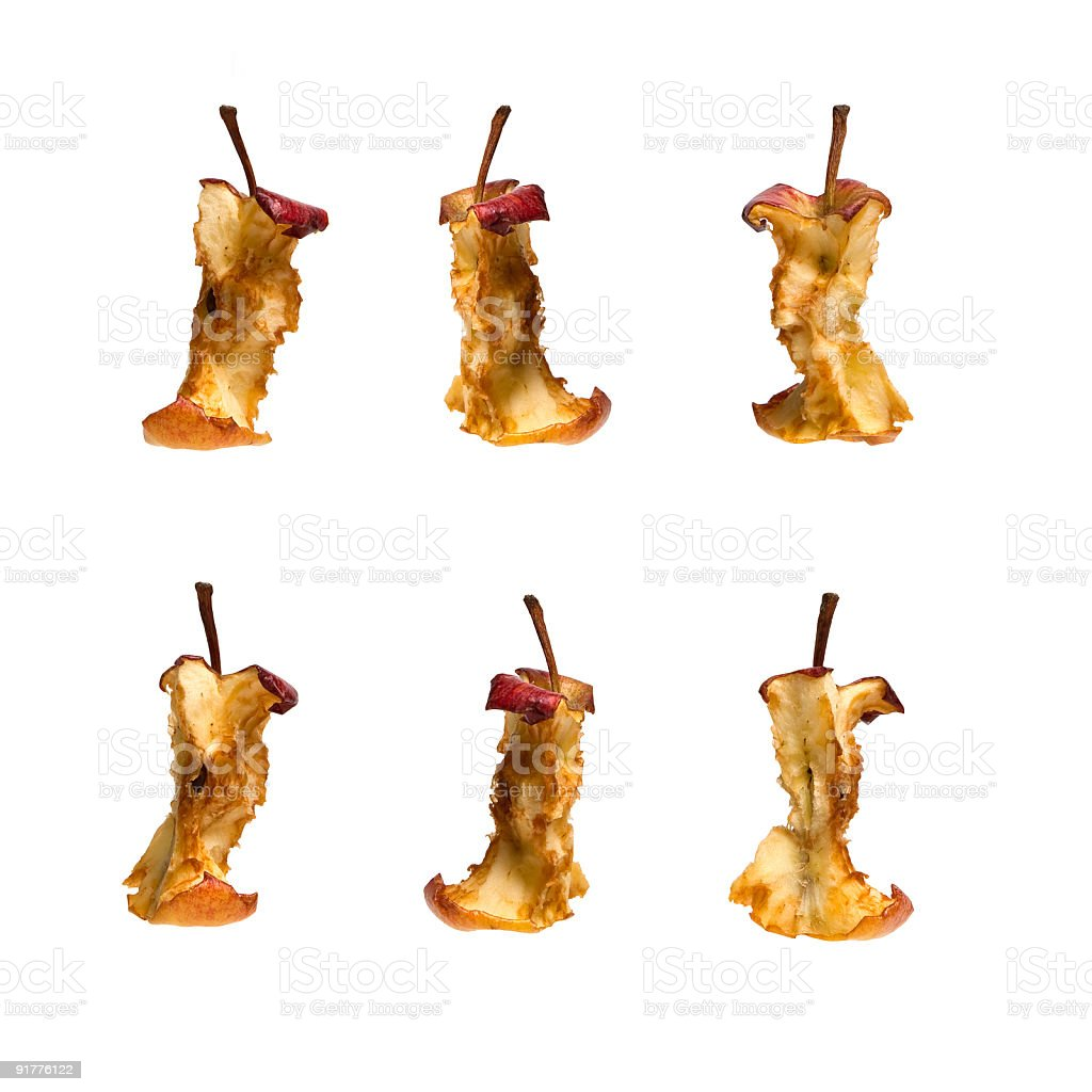 Apple Cores stock photo