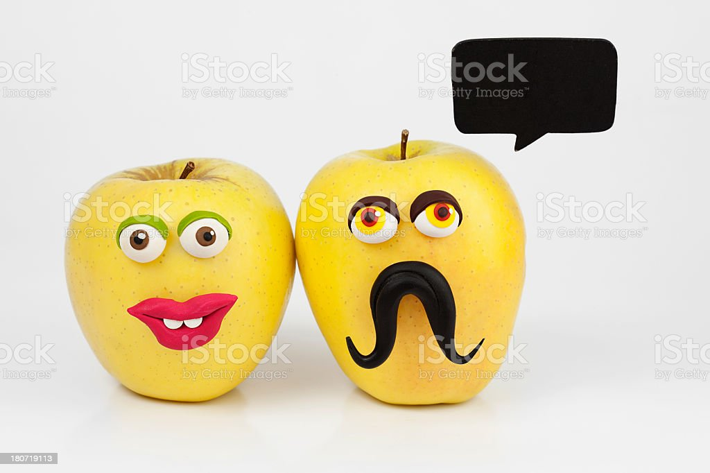Apple couple royalty-free stock photo