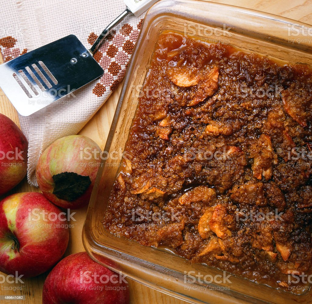 Apple crisp stock photo