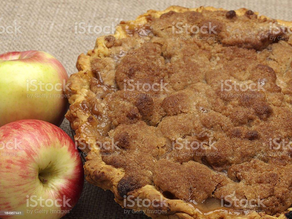 Apple Crumb Pie royalty-free stock photo