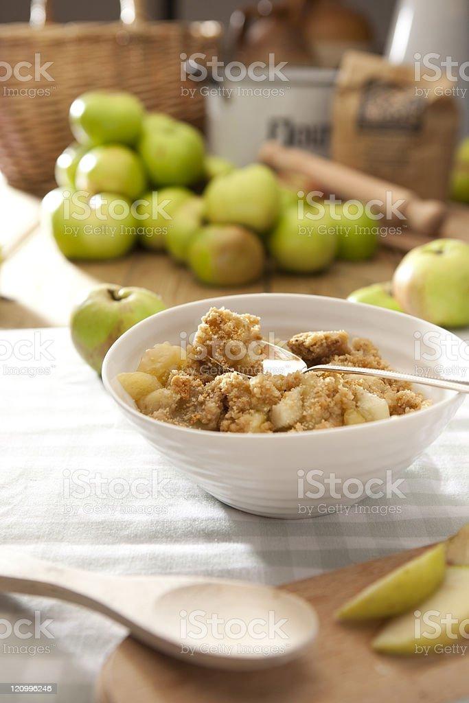 Apple Crumble royalty-free stock photo