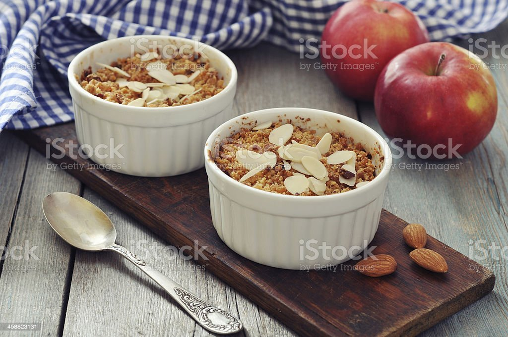 Apple crumble royalty-free stock photo