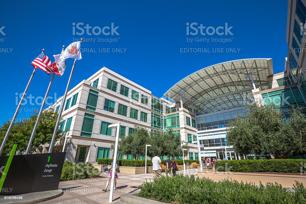 Apple Cupertino California stock photo