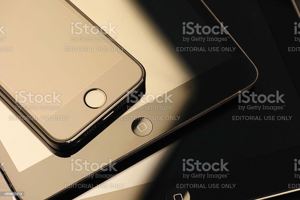 Apple devices stock photo