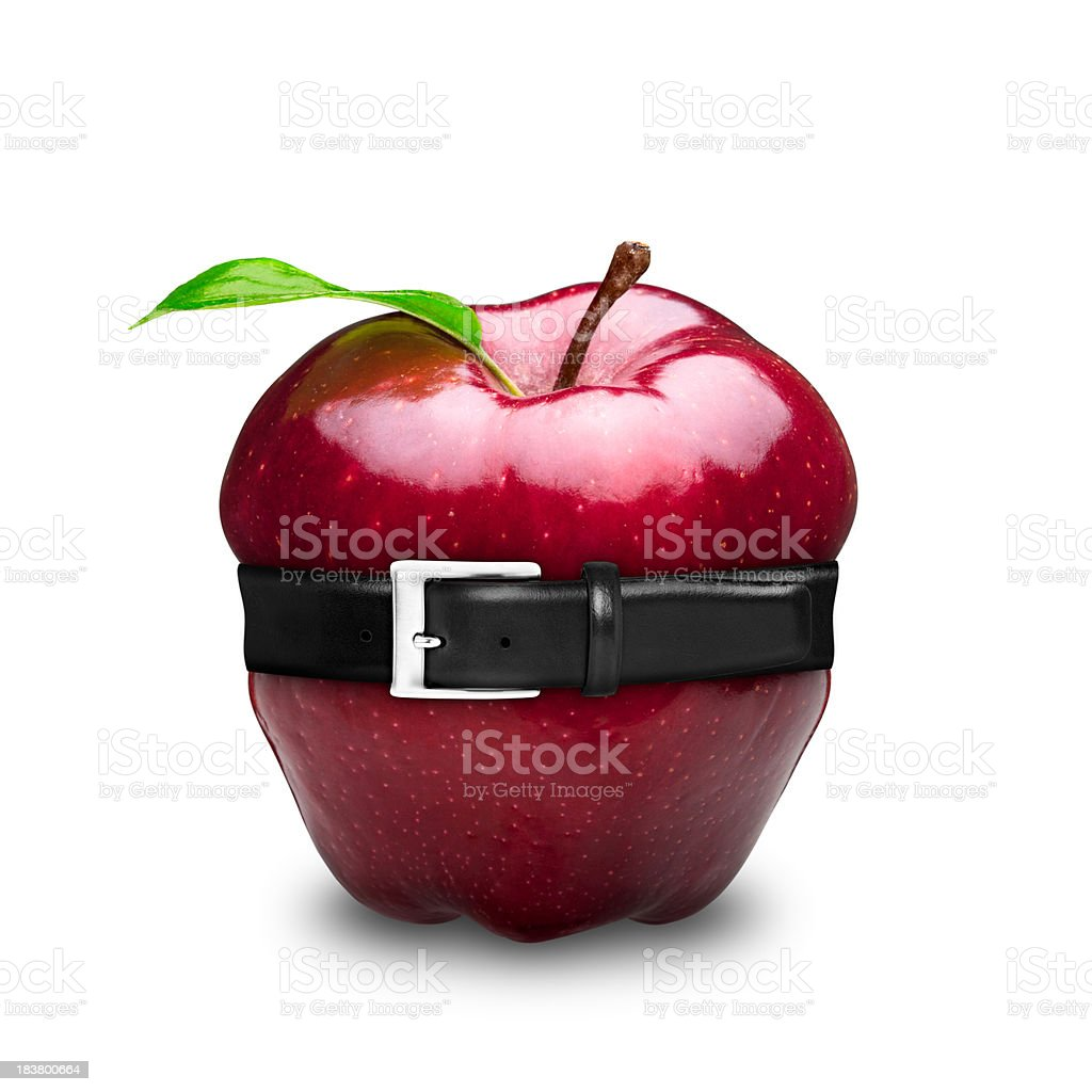 Apple diet royalty-free stock photo