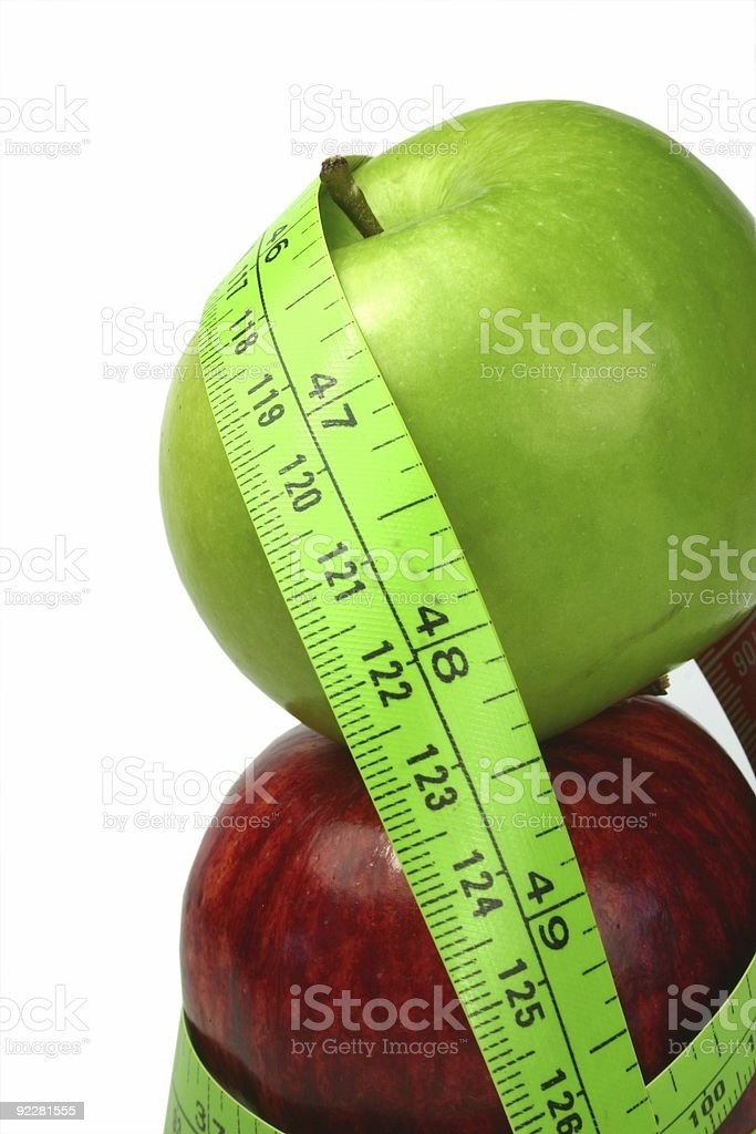 Apple Dieting royalty-free stock photo