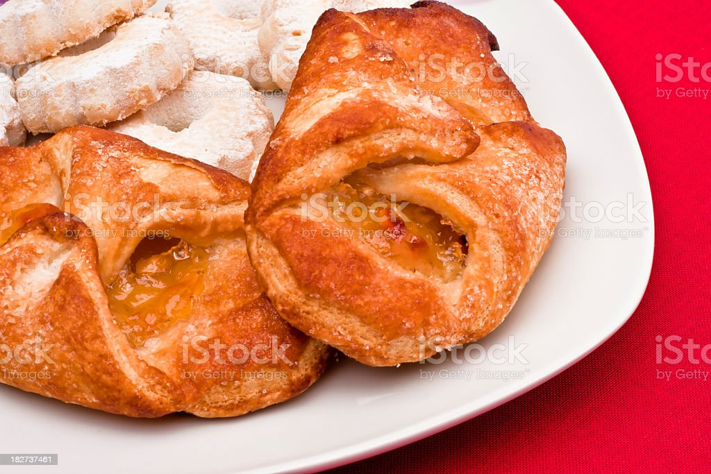 Apple Dumplings with Italians Biscuits, Breakfast Time royalty-free stock photo