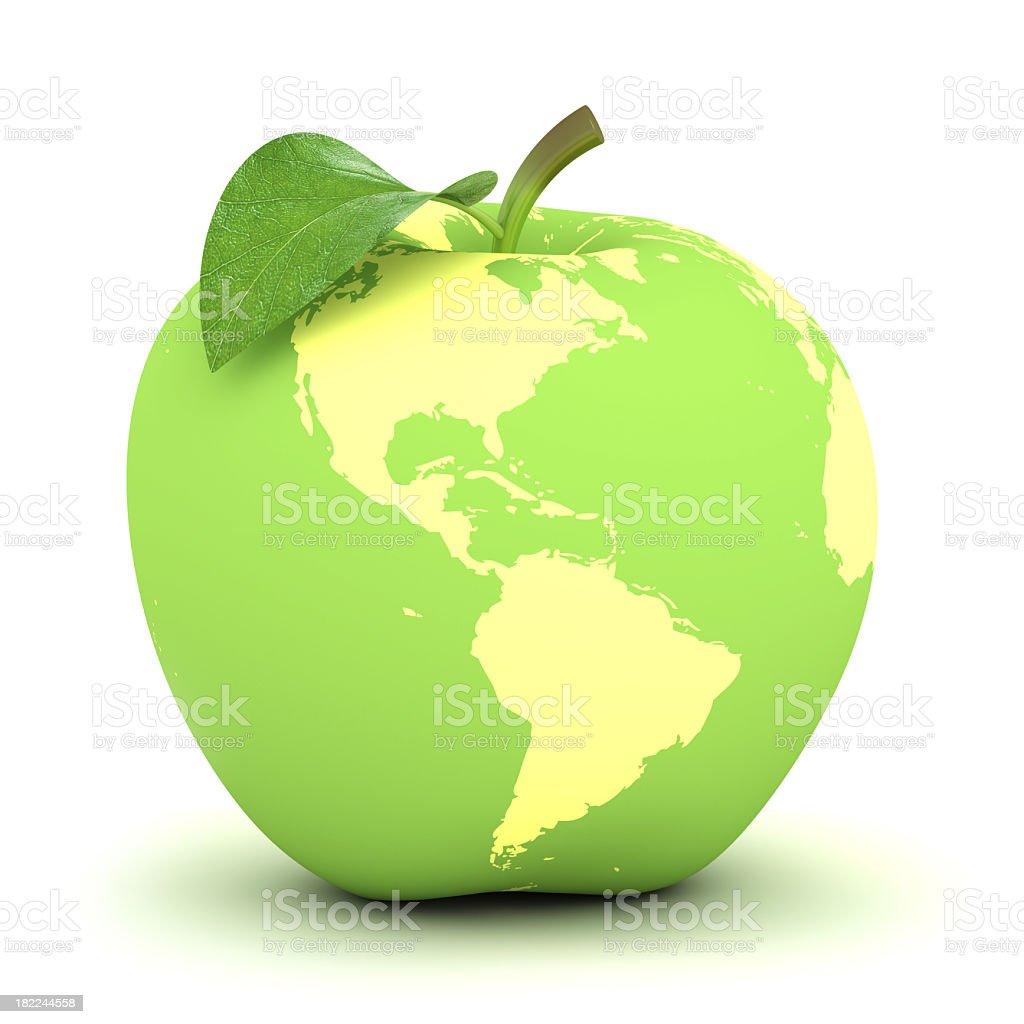 apple earth stock photo