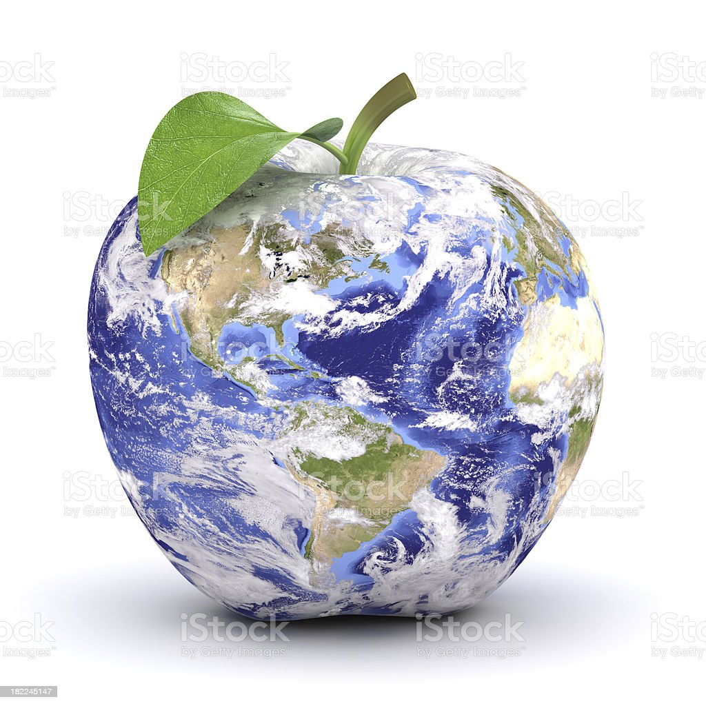 apple earth stock photo
