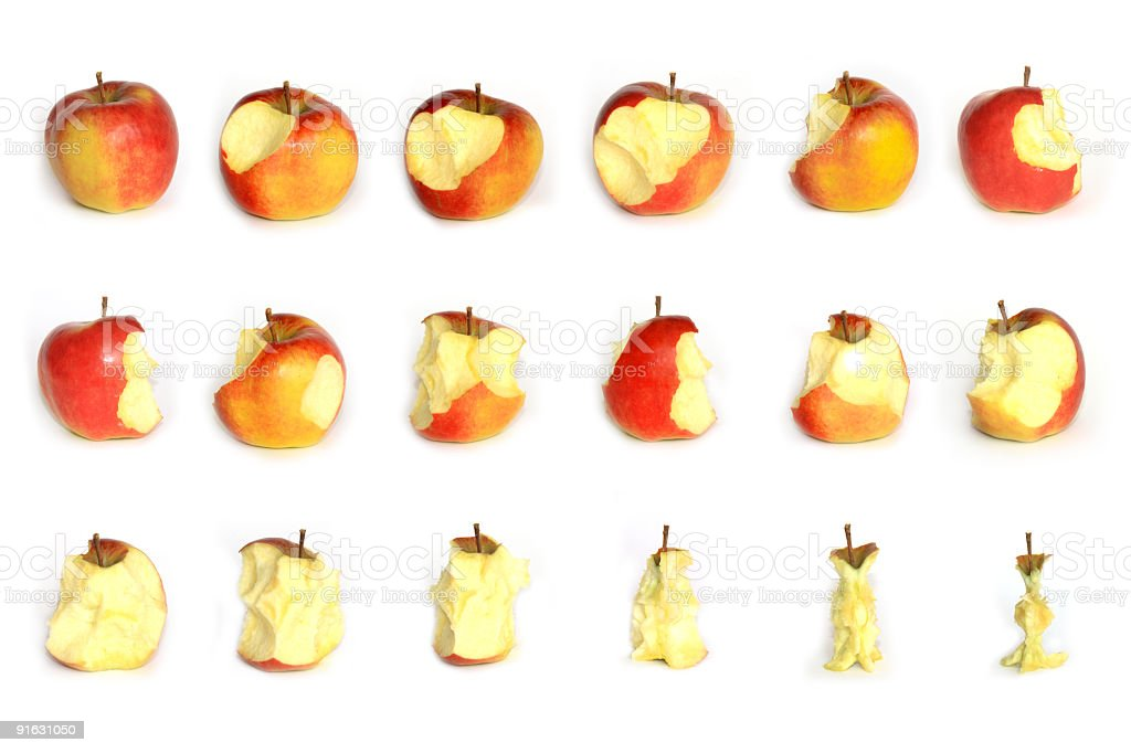 Apple eating royalty-free stock photo