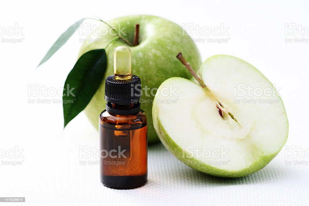 apple essential oil royalty-free stock photo