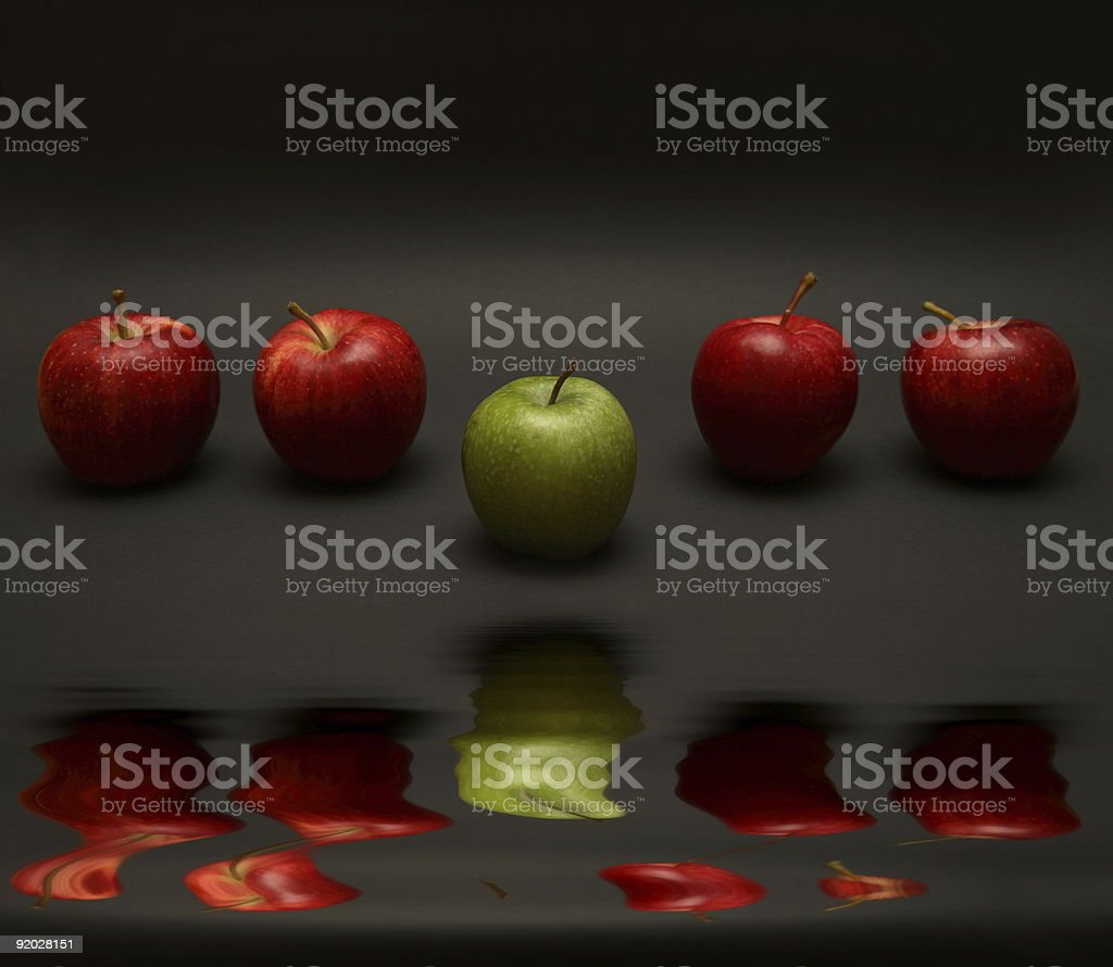 Apple Exception royalty-free stock photo