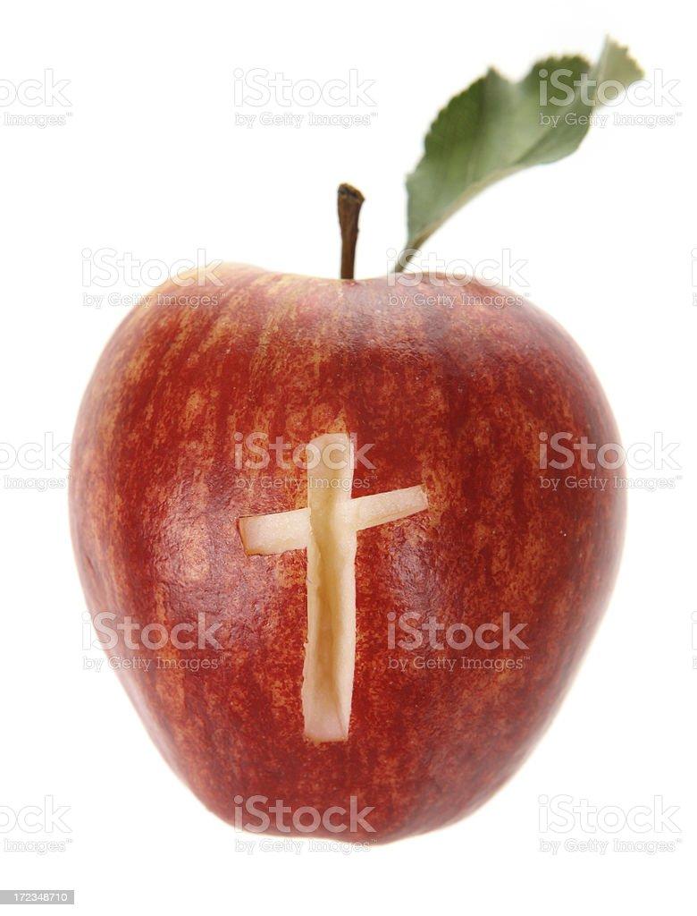Apple Faith royalty-free stock photo