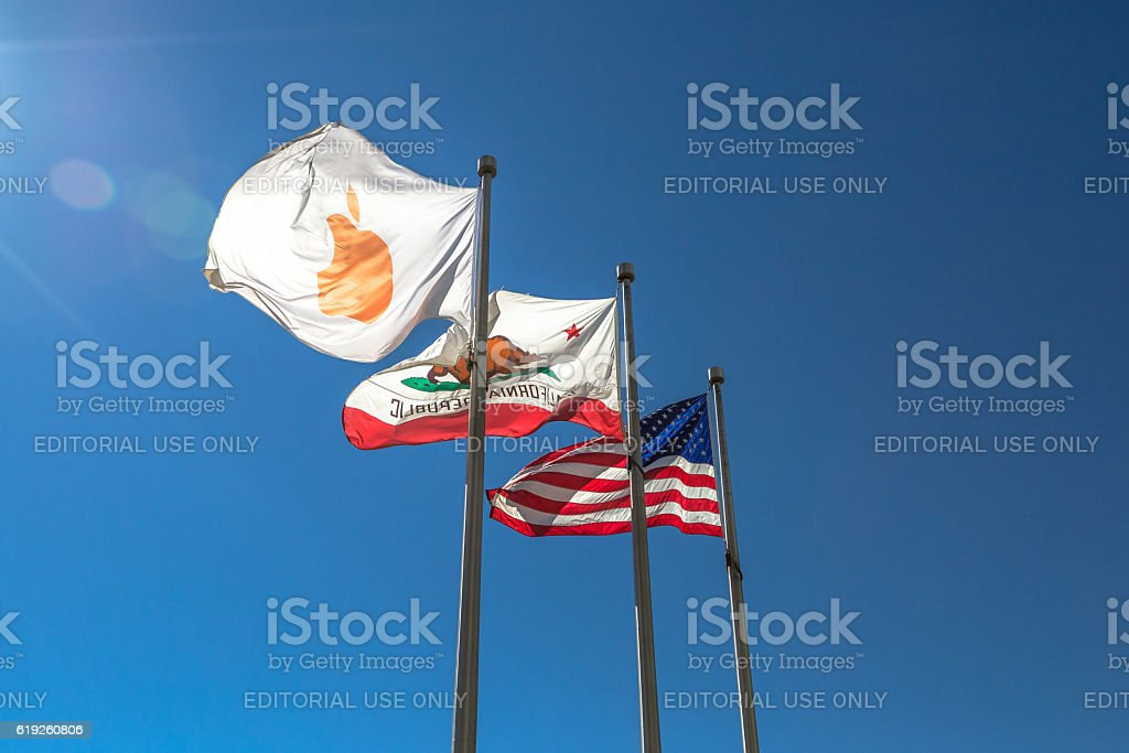 Apple Flag icon stock photo