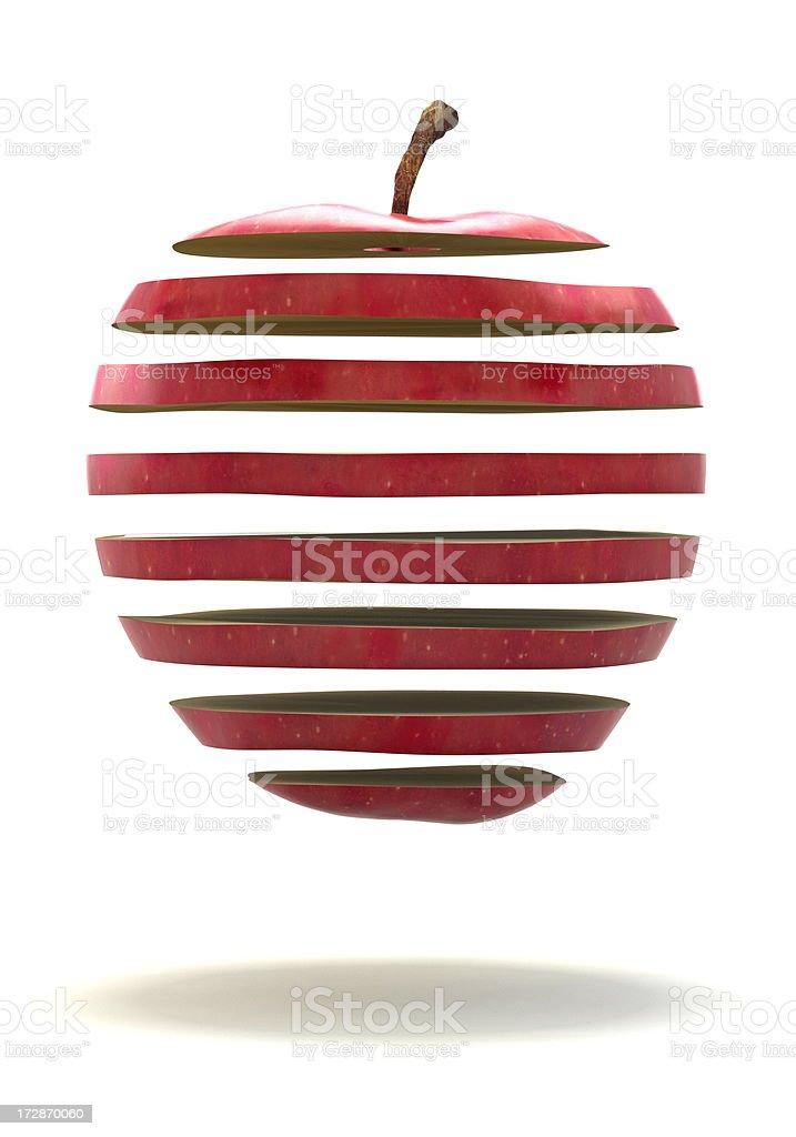 Apple Floating stock photo