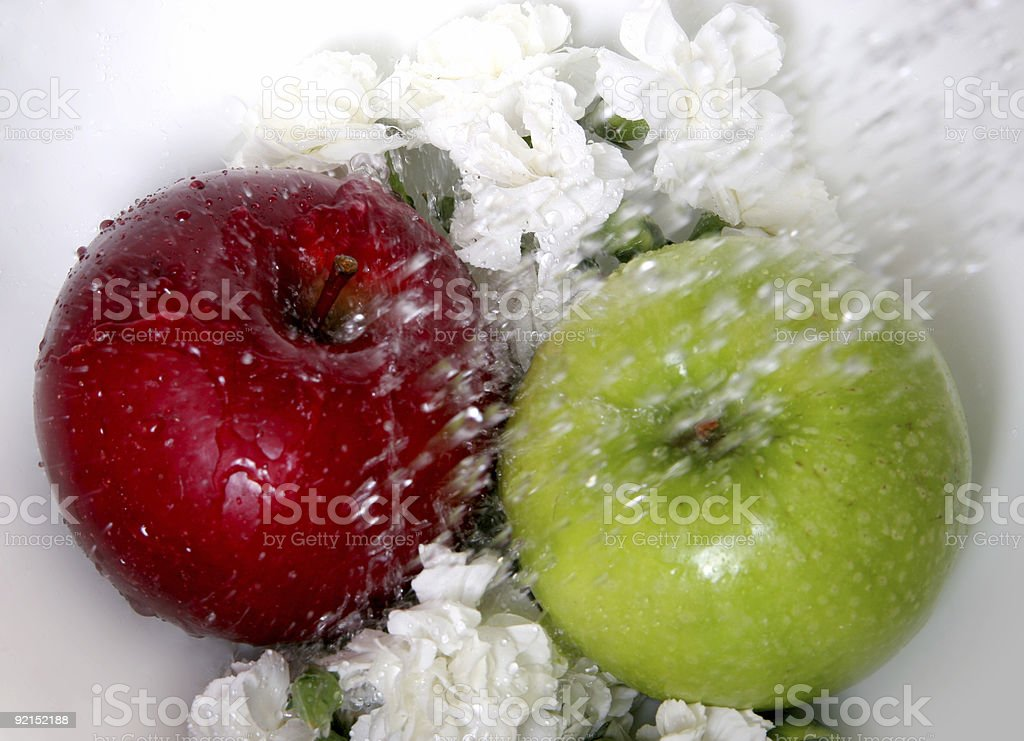 Apple flower splash. stock photo