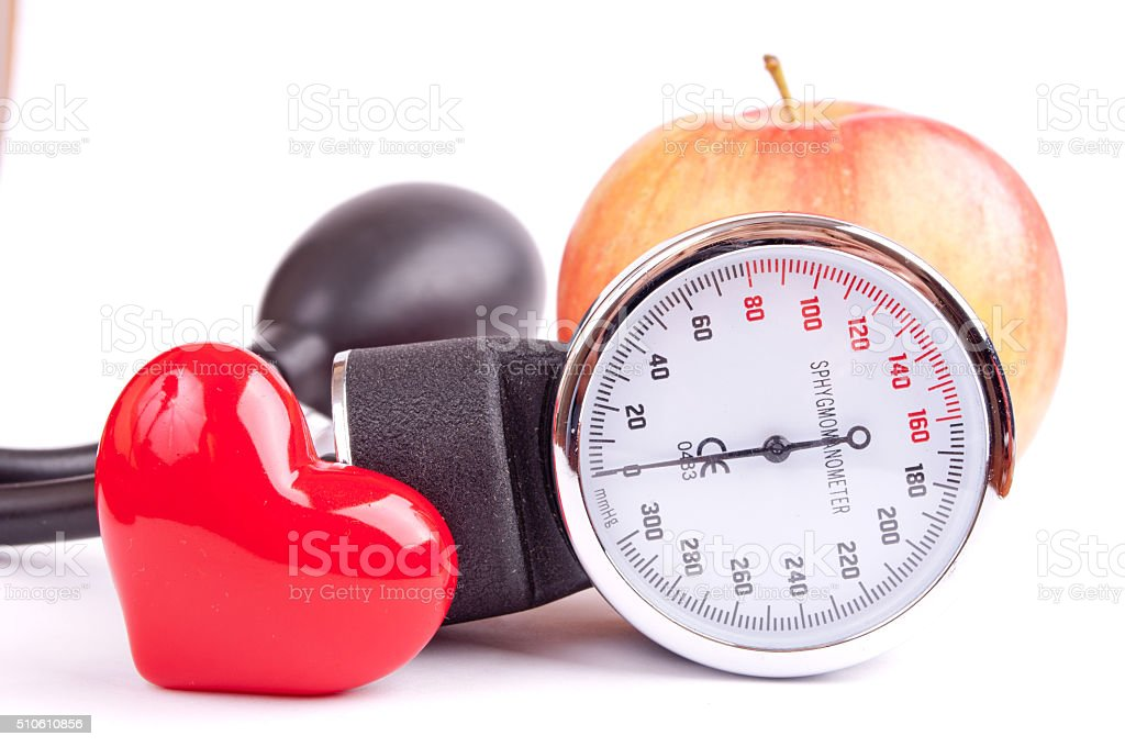 Apple for healthy heart stock photo