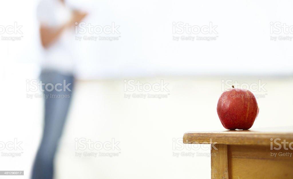 Apple for the teach stock photo