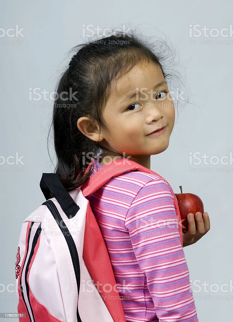 Apple for the teacher 2 stock photo