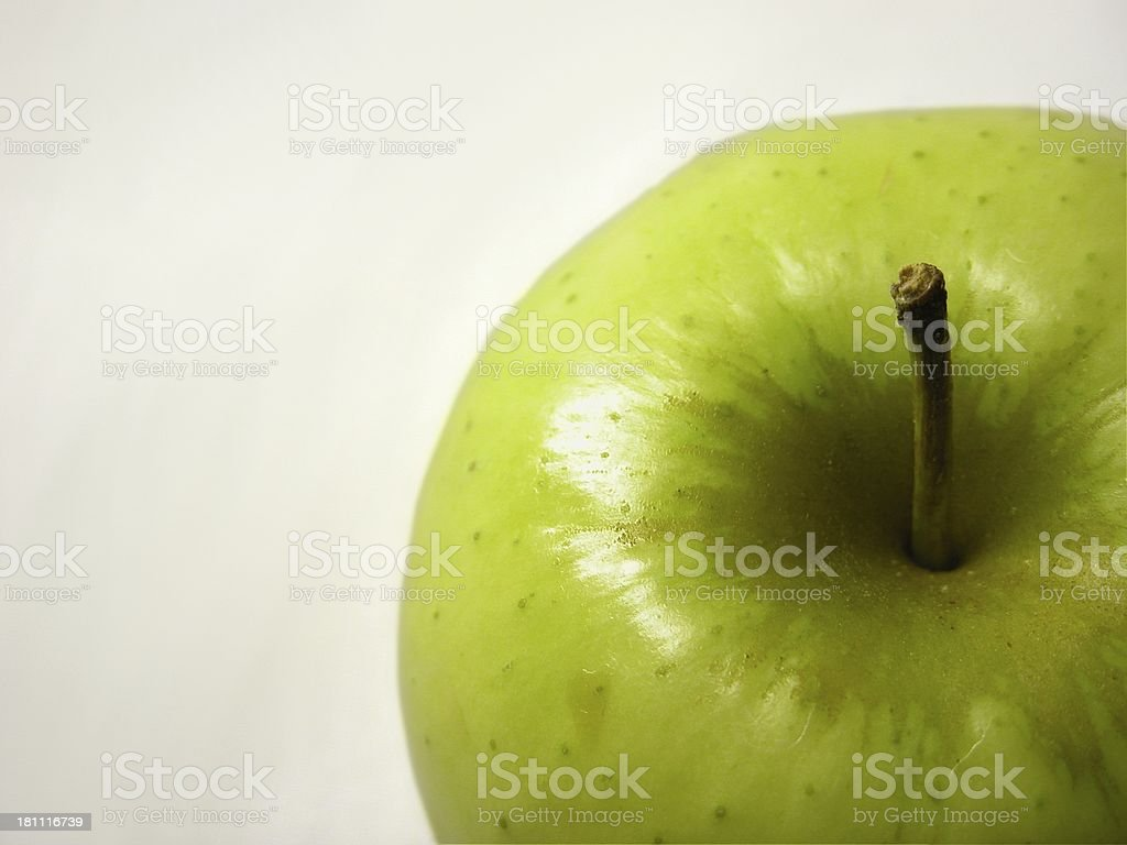 Apple from above stock photo