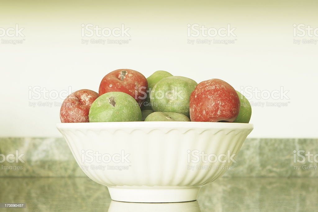 Apple Fruit Bowl Kitchen Decor royalty-free stock photo