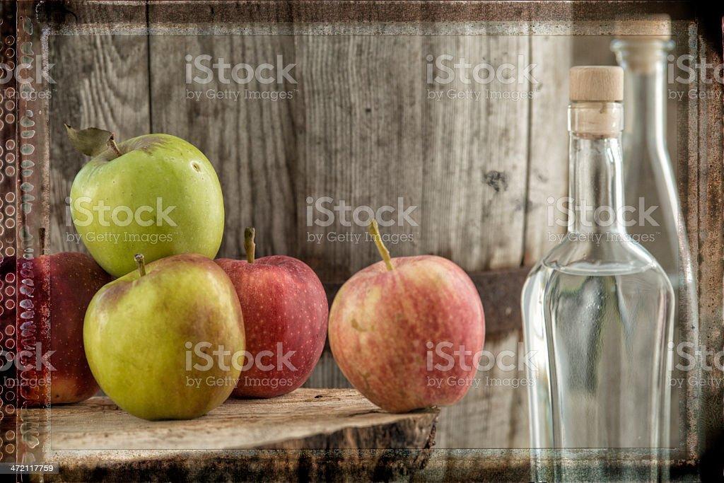Apple Fruit Brandy  Apfelschnaps obstler stock photo
