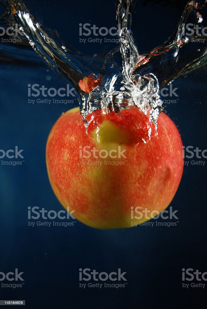 Apple fruit in water royalty-free stock photo