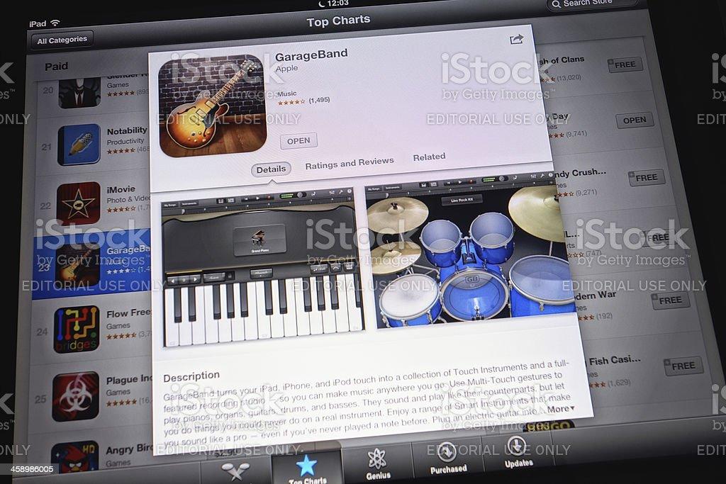 Apple GarageBand royalty-free stock photo