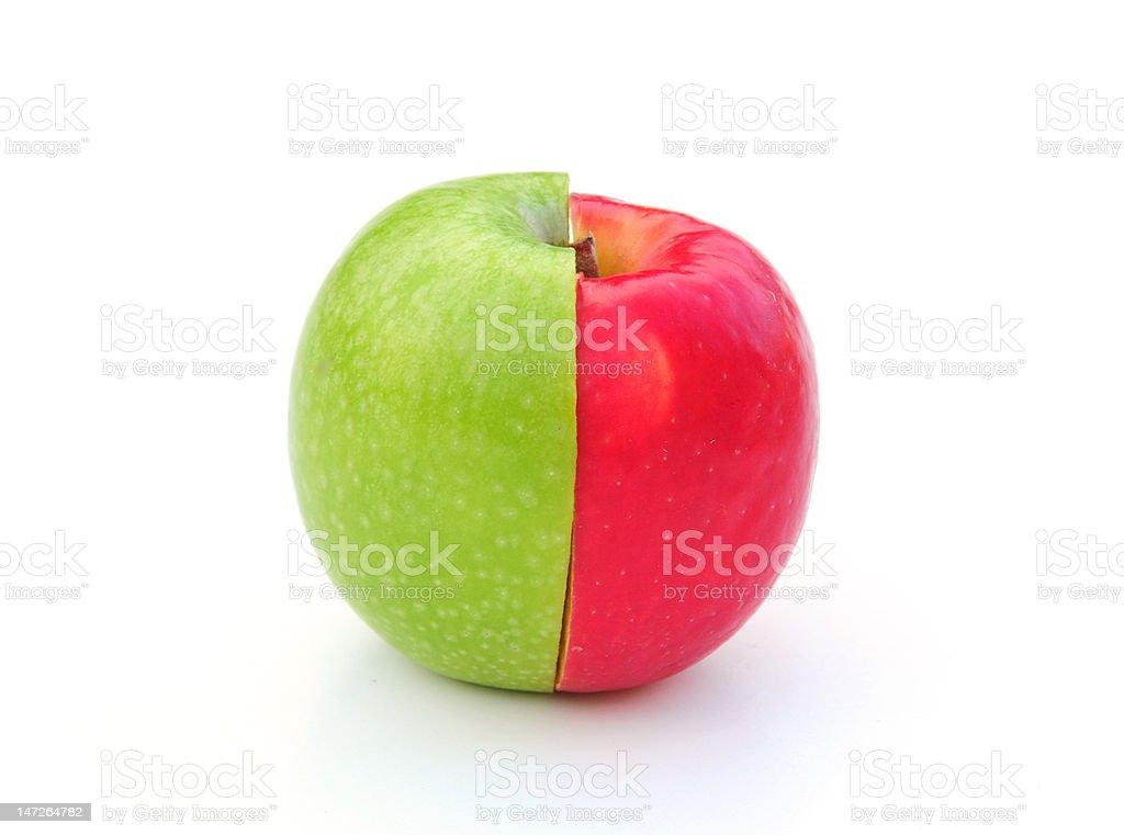 apple halves royalty-free stock photo