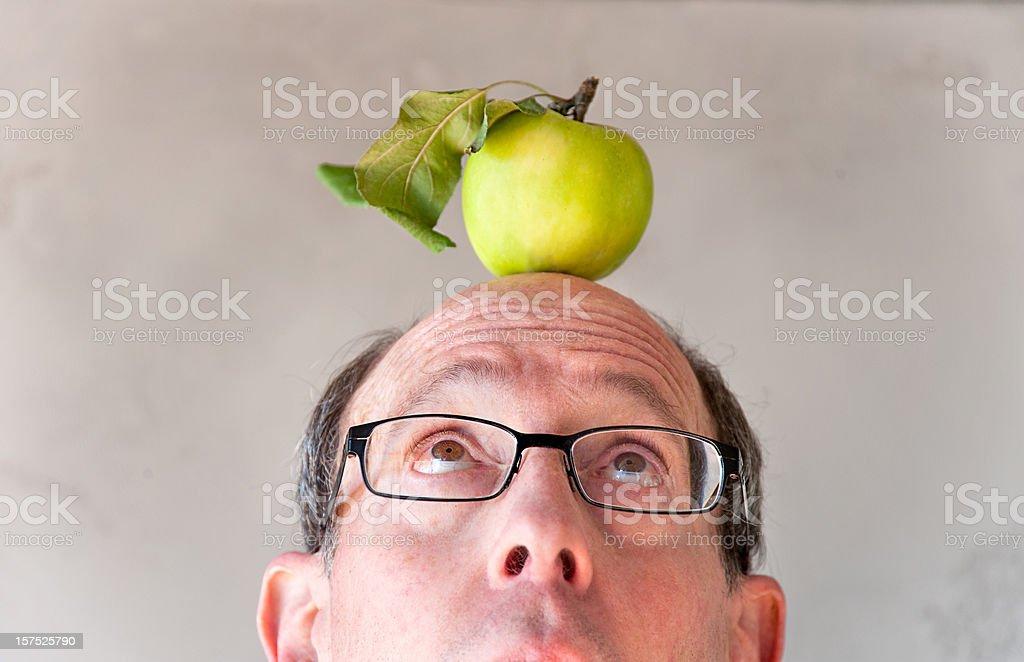 Apple Head royalty-free stock photo