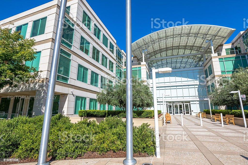 Apple headquarters Cupertino stock photo