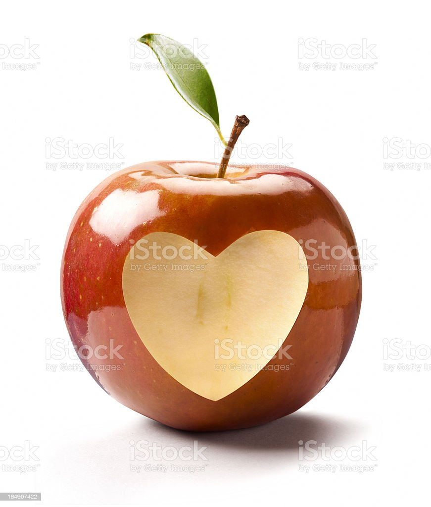Apple Heart stock photo