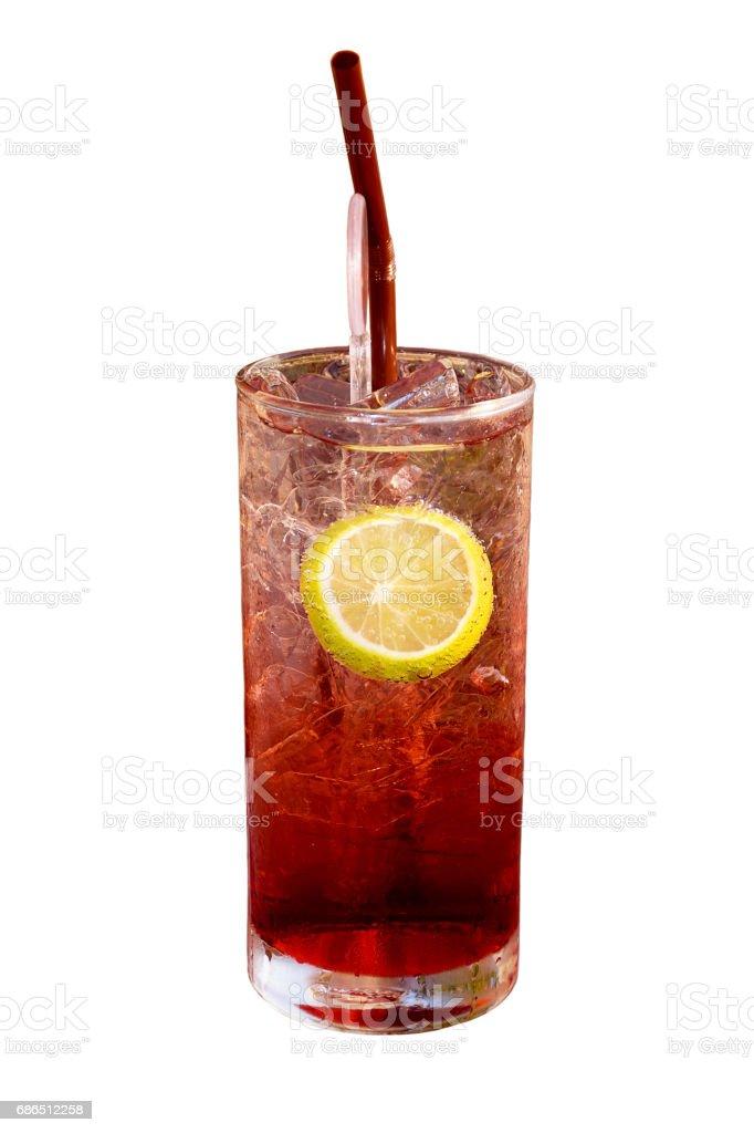 Apple iced tea and lemon stock photo