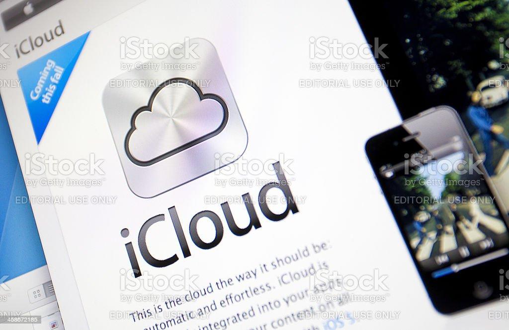 Apple iCloud stock photo