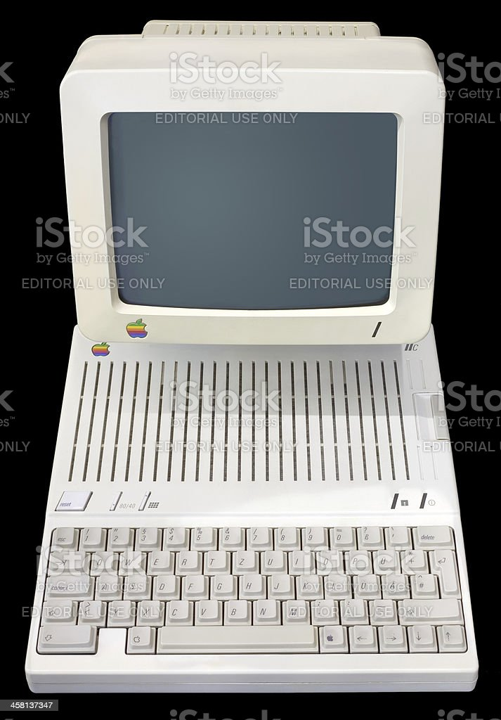 Apple IIc royalty-free stock photo