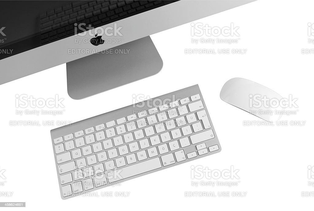Apple iMac 27 inch Computer royalty-free stock photo